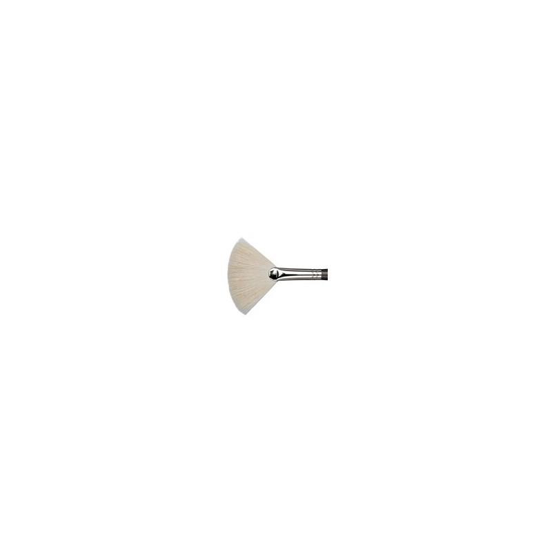 510 Pincel Ventilador Blanco Grande Cabra MUD